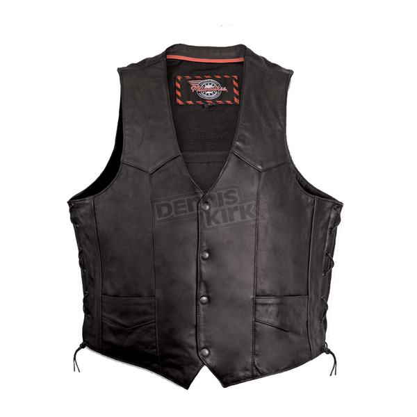 Milwaukee Motorcycle Clothing Co. Black Classic Vest - M3620XXL