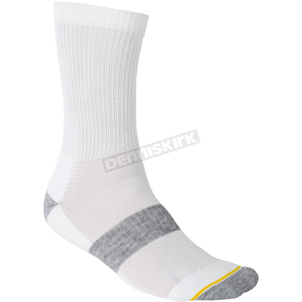 Klim White Crew Sock - 6001-001-120-800
