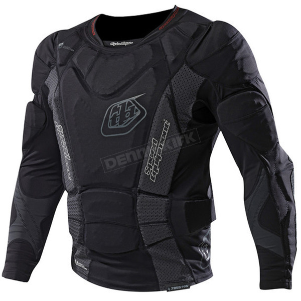 Troy Lee Designs Youth Black 7855 Hot Weather Long Sleeve Shirt  - 509003201