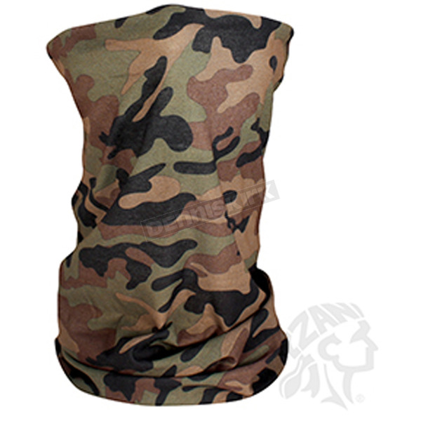 Zan Headgear Woodland Camo Motley Tube - T118