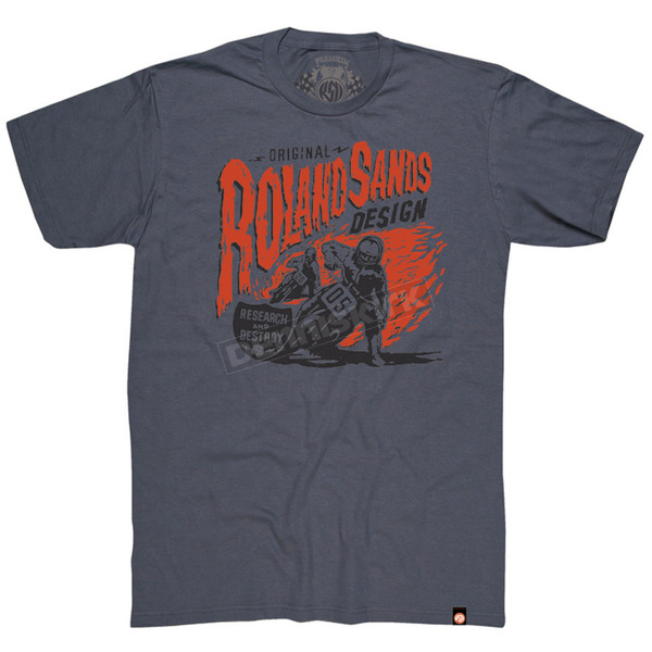 Roland Sands Design Charcoal Research and Destroy T-Shirt - 0804-0710-0252