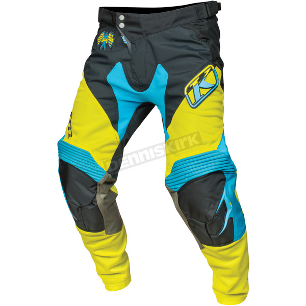 Klim Hi Vis Green/Black/Blue XC Pants - 5004-000-040-300