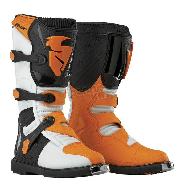 Thor White/Orange Blitz CE Boots - 3410-1451
