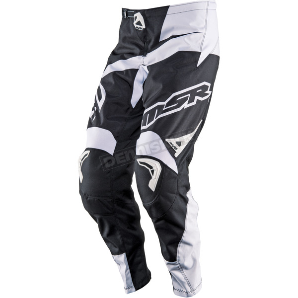 MSR Racing Black/White Axxis Pants - 352196