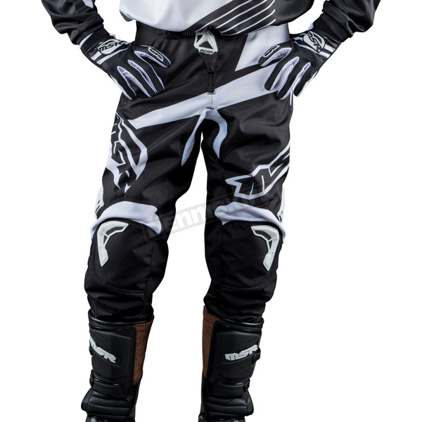 MSR Racing Black/White Axxis Pants - 352198