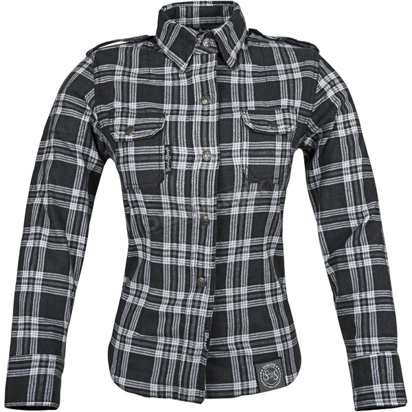 Speed and Strength Womens Black/Gray Smokin Aces Reinforoced Moto Shirt - 87-8462