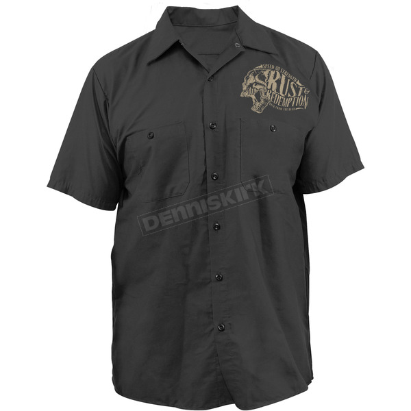 Speed and Strength Black Rust and Redemption Garage Shirt - 87-8659