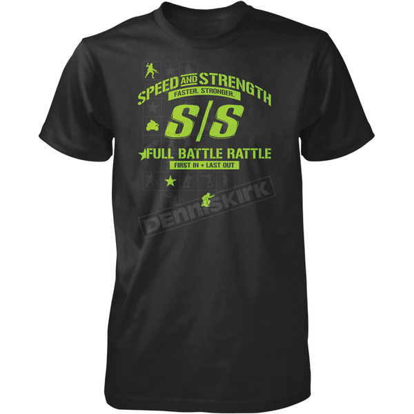 Speed and Strength Black Full Battle Rattle T-Shirt - 87-8684