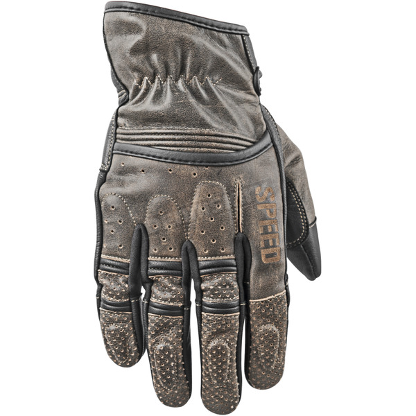 Speed and Strength Distressed Olive Rust and Redemption Leather Gloves - 87-8628