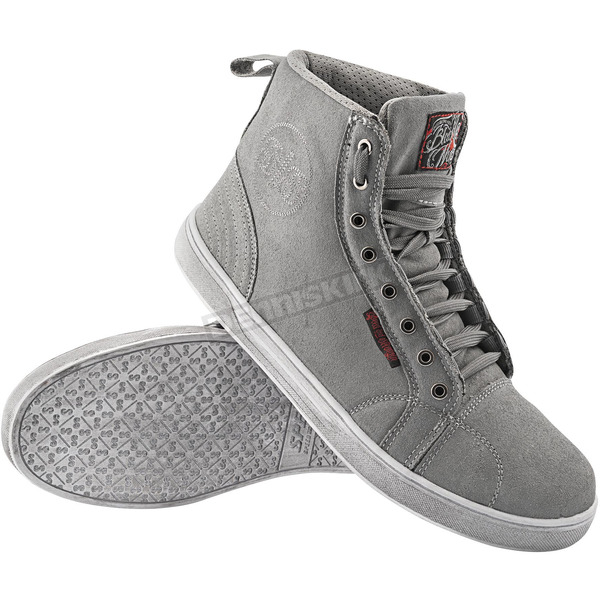 Speed and Strength Gray Black Nine Moto Shoes - 87-7866