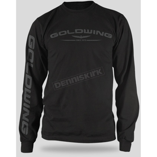 Honda Black Goldwing Long Sleeve T-Shirt - 54-7165