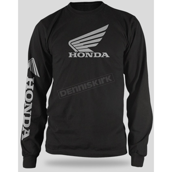 Honda Black Honda Wing Long Sleeve T-Shirt - 54-7180