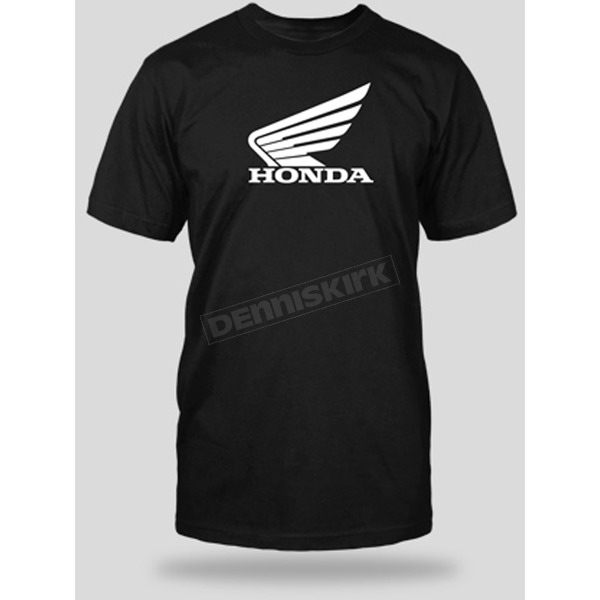 Honda Black Big Wing T-Shirt - 54-7212