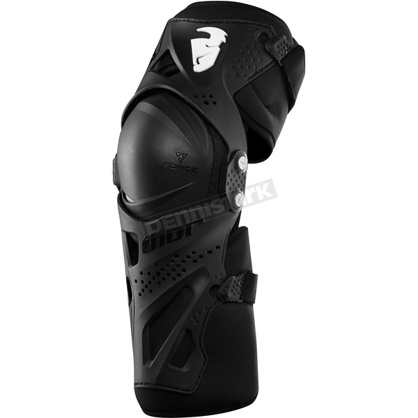 Thor Black Force XP Knee Guards - 2704-0359