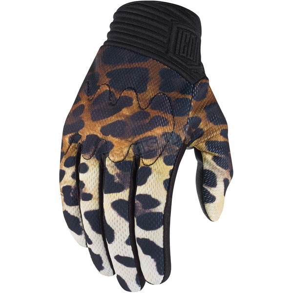 Icon 1000 Womens Black Cheeter Gloves - 3302-0436