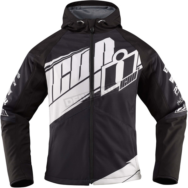 Icon Womens Black/White Team Merc™ Jacket - 2822-0789