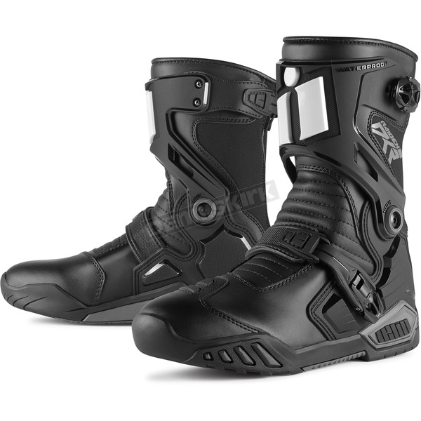Icon Black Raiden DKR Boots - 3403-0679