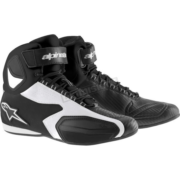 Alpinestars Black/White Faster Shoes - 2510214126