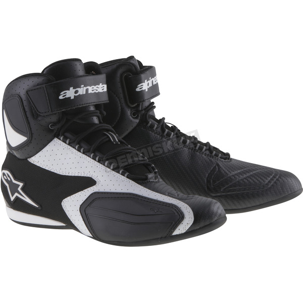 Alpinestars Black/White Faster Vented Shoes - 25103141212.5