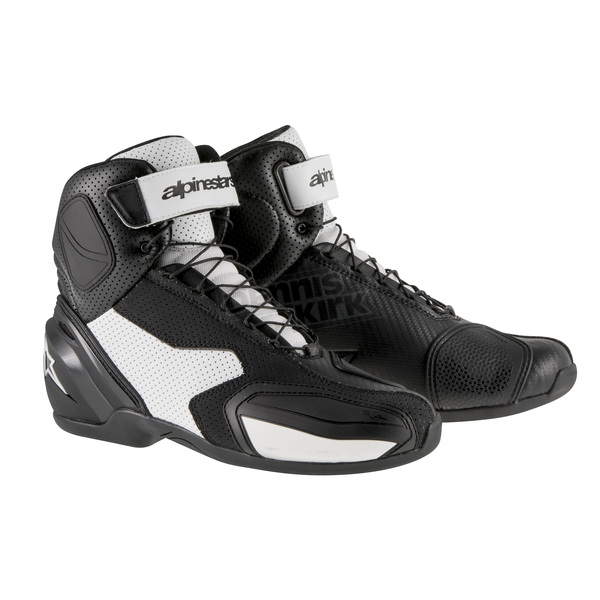 Alpinestars Black/White SP-1 Vented Shoes - 2511315-12-36