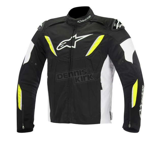 Alpinestars Black/White/Yellow Fluorescent T-GP R Waterproof Jacket - 3205515-125-4X