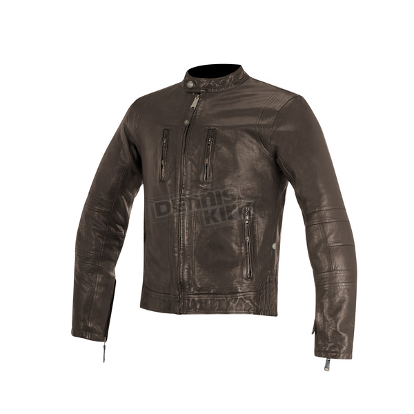 Alpinestars Brown Brass Leather Jacket - 3108515-810-3XL