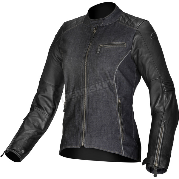 Alpinestars Womens Black Renee Textile/Leather Jacket - 3318013-10-38