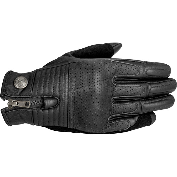 Alpinestars Black Rayburn Leather Gloves - 3508315-10-XL