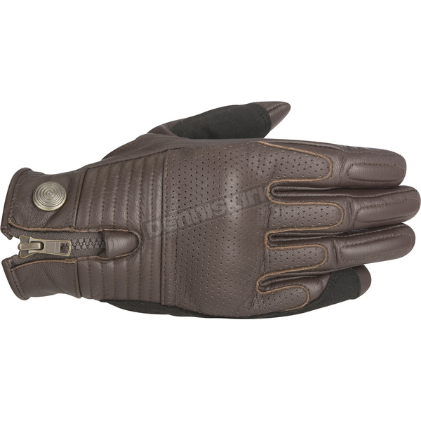 Alpinestars Tobacco Brown Rayburn Leather Gloves - 3508315-810-M