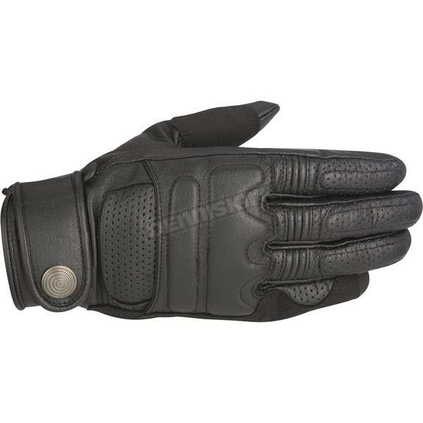 Alpinestars Black Robinson Leather Gloves - 3508515-10-L