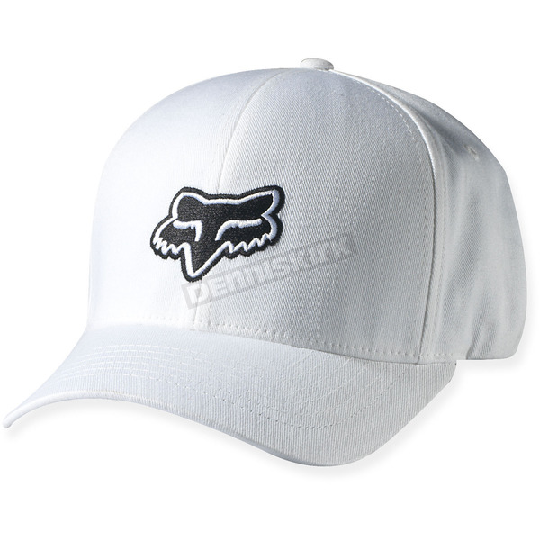 Fox White Legacy Flex-Fit Hat - 58225-008-L/XL
