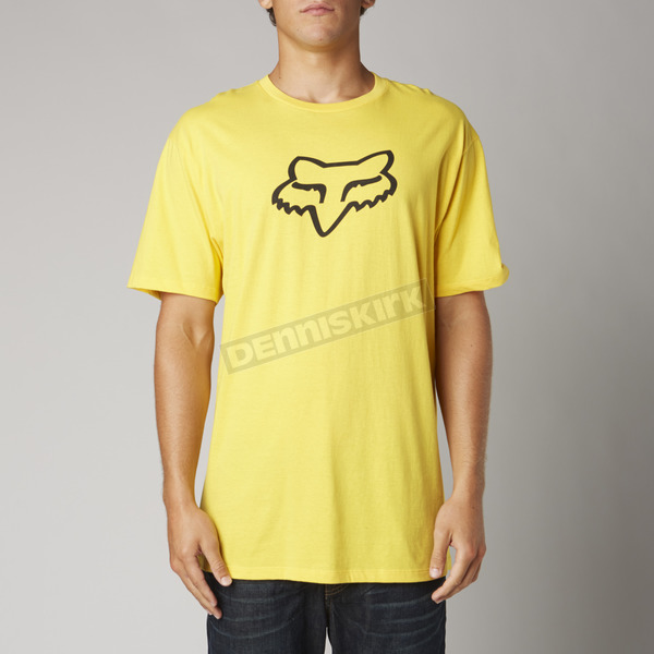 Fox Yellow Fox Head Premium T-Shirt - 14222-005-M