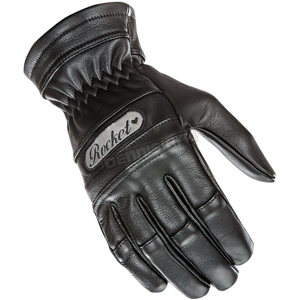 Joe Rocket Womens Black Classic Leather Gloves - 1338-2003