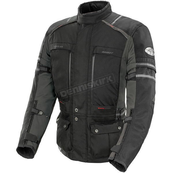 Joe Rocket Black/Gunmetal Ballistic Adventure Jacket - 1514-2003