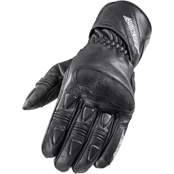 Joe Rocket Black Pro Street Leather Gloves - 1520-1004