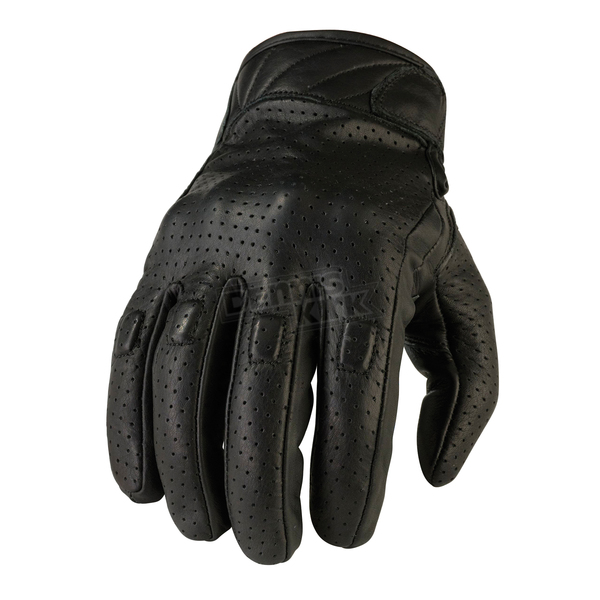 Z1R Black 270 Perforated Leather Gloves - 3301-2605