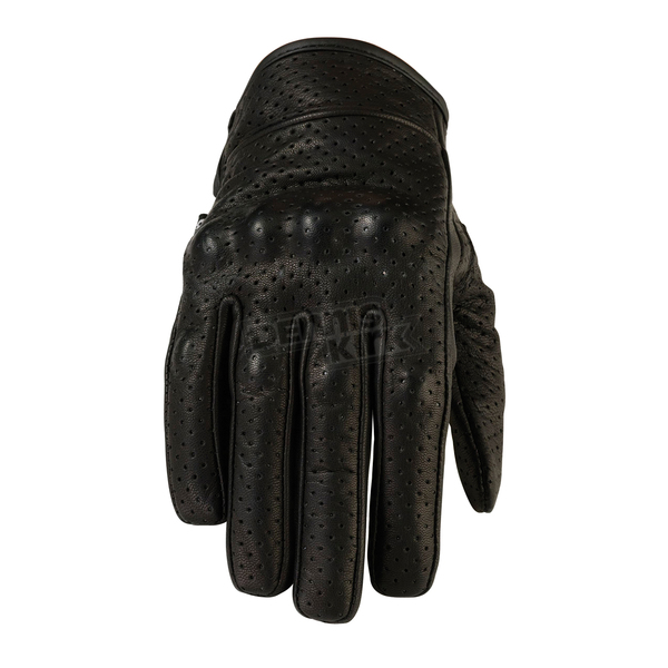 Z1R Womens Black 270 Perforated Leather Gloves - 3302-0463