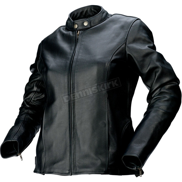 Z1R Womens Black 357 Leather Jacket - 2813-0610