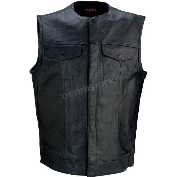 Z1R Black 338 Leather Vest - 2830-0358