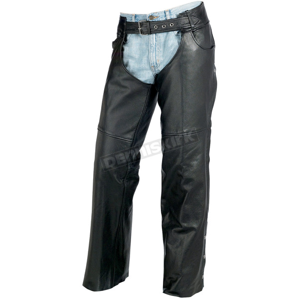 Z1R Black Carbine Leather Chaps - 2830-0366