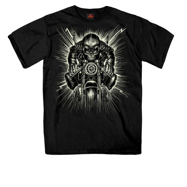 Hot Leathers Black Cafe Extreme T-Shirt - GMS1303L