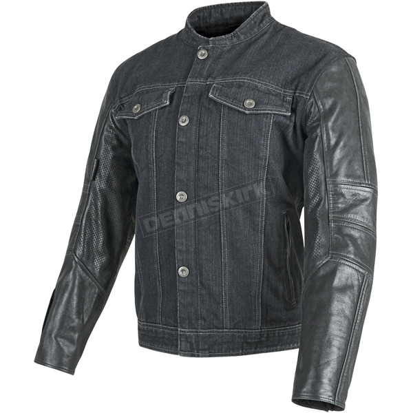 Speed and Strength Black Band of Brothers Leather and Denim Jacket - 87-8856
