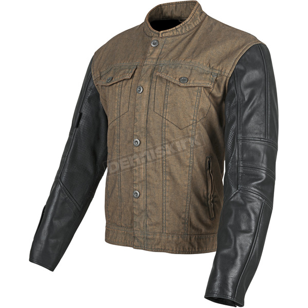 Speed and Strength Brown/Black Band of Brothers Leather and Denim Jacket - 87-8858
