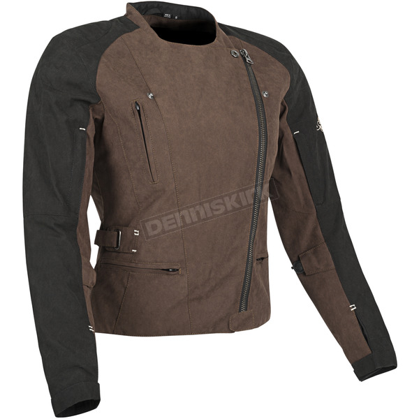 Speed and Strength Womens Brown/Black Tough Love Textile Jacket - 87-8884