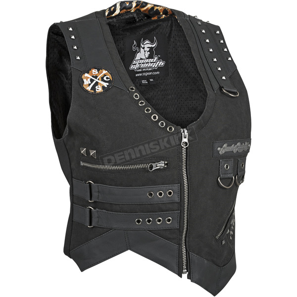 Speed and Strength Womens Black Iron Mistress Vest - 87-8887