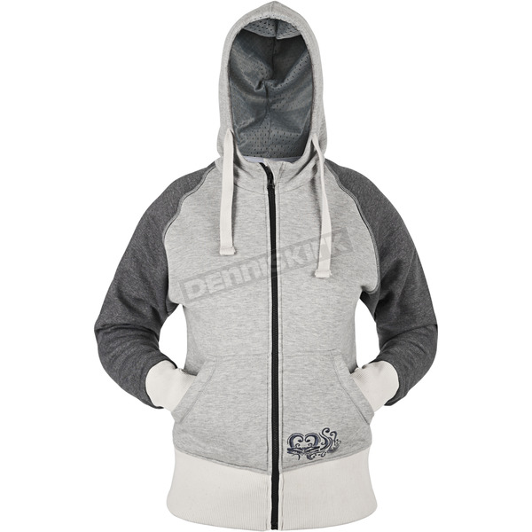 Speed and Strength Womens Grey American Beauty Armored Hoody - 87-8905