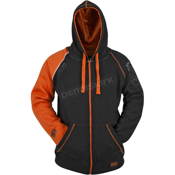 Speed and Strength Orange/Black United By Speed Armored Hoody - 87-8932