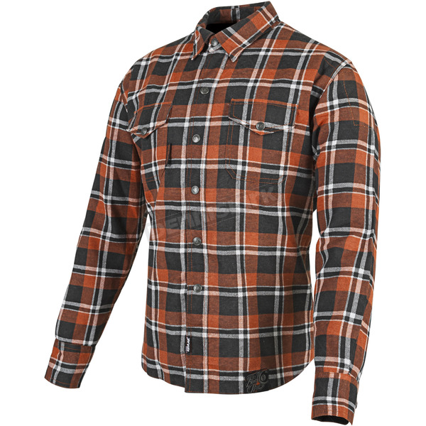 Speed and Strength Orange/Black Black Nine Reinforced Moto Shirt - 87-8949