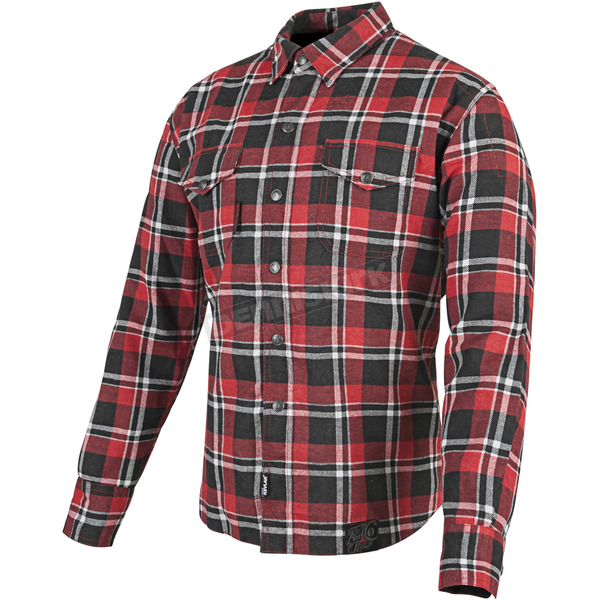 Speed and Strength Red/Black Black Nine Reinforced Moto Shirt - 87-8953