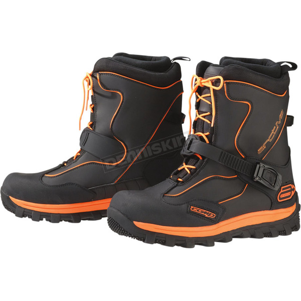 Arctiva Black/Orange Comp Boots - 3420-0559